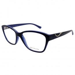 bf1c3288c666b Óculos de Grau Jean Monnier Quadrado Acetato Azul Aro Fechado Sem Plaquetas  0j83156 e693 52