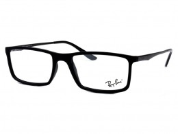 cffcf6221c6aa Óculos de Grau Ray-Ban Quadrado Acetato Preta Aro Fechado Sem Plaquetas  0rx7026l 519654