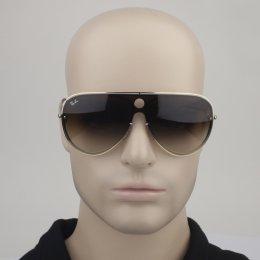 Óculos de Sol Ray-Ban Piloto Armação Metal Dourada Lente Marrom Degradê Com  Plaquetas 0rb3605n ead3167116