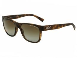 a555cac5ccdb8 Óculos de Sol Armani Exchange Quadrado Armação Acetato Tartaruga Lente  Marrom Polarizada Sem Plaquetas 0ax4008l8029t556