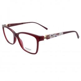 Óculos de Grau Ana Hickmann Quadrado Acetato Bordô Aro Fechado Sem Plaquetas  AH6260 T01 aee534f8ff