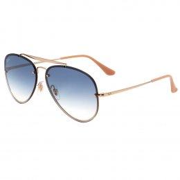 Óculos de Sol Ray-Ban Aviador Armação Metal Dourado Lente Azul Degradê Com  Plaquetas 0rbb3584n001 93bdf2468d