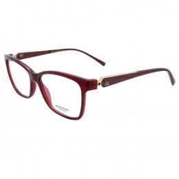 Óculos de Grau Ana Hickmann Quadrado Acetato Bordô Aro Fechado Sem Plaquetas  AH6260 T01 8f16bb66c4