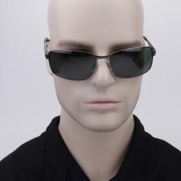 e27da365c Óculos de Sol Polaroid Retangular Armação Metal Prata Lente Verde Comum Com  Plaquetas p4416a3x63rcs