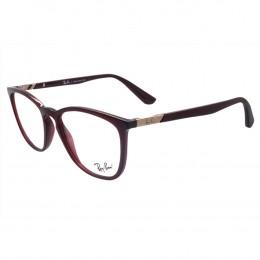 c053988d75102 Óculos de Grau Ray-Ban Redondo Acetato Vermelha Aro Fechado Sem Plaquetas  0rx7136l 574252
