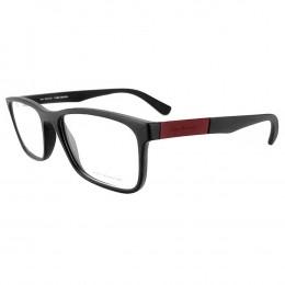 b719777a4d5fb Óculos de Grau Jean Monnier Quadrado Acetato Preta Aro Fechado Sem Plaquetas  0j83166 f314 54