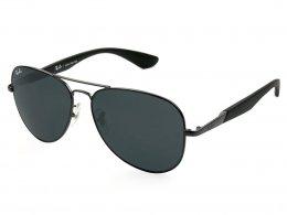 Óculos de Sol Ray-Ban Aviador Armação Metal Preta Lente Verde Comum Com  Plaquetas 0rb3554l cdf14289e7