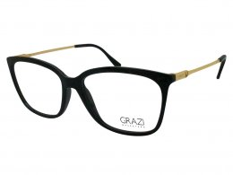Óculos de Grau Grazi Massafera Quadrado Acetato Preta Aro Fechado Sem  Plaquetas gz3016 d829 53 a5287af576