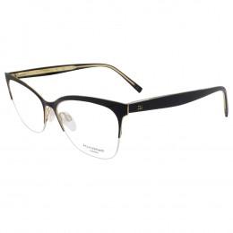1d3424c039938 Óculos de Grau Ana Hickmann Gatinho Metal Preta Aro Aberto Com Plaquetas  AH1349 09A