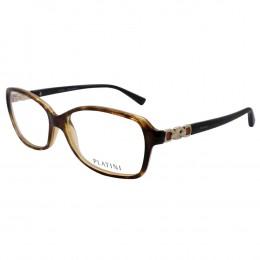 Óculos de Grau Platini Retangular Acetato Tartaruga Aro Fechado Sem  Plaquetas 0p93140 f211 53 b0423b22ae
