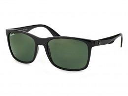 2aabf031f56e4 Óculos de Sol Ray-Ban Quadrado Amação Acetato Preto Lente Verde Polarizado  Sem Plaquetas 0rb4232l