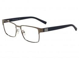 b9ea395bc6884 Óculos de Grau Armani Exchange Quadrado Metal Cinza Aro Fechado Com  Plaquetas 0ax1019l608754