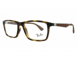 Óculos de Grau Ray-Ban Quadrado Acetato Tartaruga Aro Fechado Sem Plaquetas  0rx7056l 2012 55 b3122fcd09