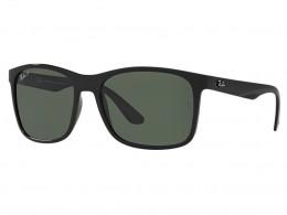 Óculos de Sol Ray-Ban Quadrado Armação Acetato Preta Lente Verde Comum Sem  Plaquetas 0rb4232l db1ca3ca53