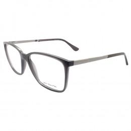 0f54fcbeaedc0 Óculos de Grau Jean Monnier Quadrado Acetato Cinza Aro Fechado Sem Plaquetas  0j83158 e736 55