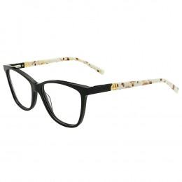 197ab5fb10899 Óculos de Grau Ana Hickmann Redondo Acetato Preta Aro Fechado Sem Plaquetas  AH6313 A01