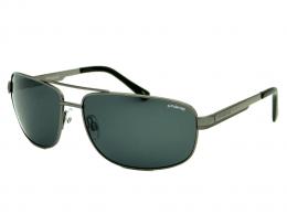 ecf0eed1a87bb Óculos de Sol Polaroid Retangular Armação Metal Prata Lente Preta Comum Com  Plaquetas p4314 a4x 63y2