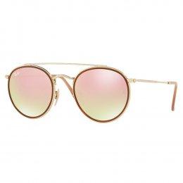 Óculos de Sol Ray-Ban Retrô Armação Metal Dourado Lente Marrom Comum Com  Plaquetas rb3647n 0c15f46d8c