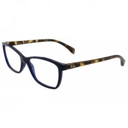 5fdc932f66c8b Óculos de Grau Ray-Ban Gatinho Acetato Azul Aro Fechado Sem Plaquetas  0rx7108l 569653