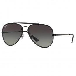 Óculos de Sol Ray-Ban Aviador Armação Metal Preto Lente Preta Degradê Com  Plaquetas rb3584n b5ddfc32de