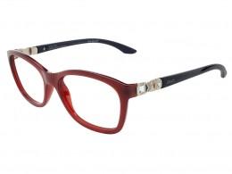 f1c34c3aa9b95 Óculos de Grau Grazi Massafera Quadrado Acetato Vermelha Aro Fechado Sem  Plaquetas 0gz3001bd14054