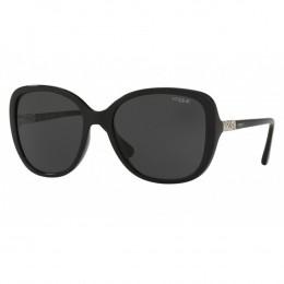 8aba06ec6 Óculos de Sol Vogue Quadrado Armação Acetato Preto Lente Preta Comum Sem  Plaquetas 0vo5154sb w44/