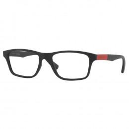 a66ec3e5979aa Óculos de Grau Jean Monnier Retangular Acetato Preta Aro Fechado Sem  Plaquetas 0j83162 e977 55