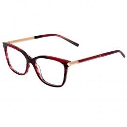 cfabe8d000855 Óculos de Grau Ana Hickmann Quadrado Acetato Vermelha Aro Fechado Sem  Plaquetas AH6292 E02