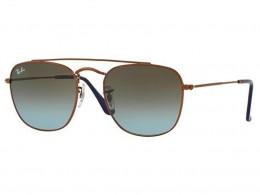 Óculos de Sol Ray-Ban Quadrado Armação Metal Marrom Lente Marrom Degradê  Com Plaquetas 0rb3557 eafede01eb