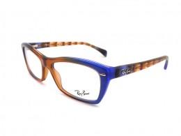 Óculos de Grau Ray-Ban Quadrado Acetato Azul Aro Fechado Sem Plaquetas  0rx5255548853 b8e7d1db3e