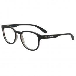 40d1a6fc01aa7 Óculos de Grau Arnette Redondo Acetato Preta Aro Fechado Sem Plaquetas  0an7135l 2480 51