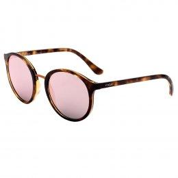 6fa386eef252e Óculos de Sol Vogue Redondo Armação Acetato Tartaruga Lente Rosa Espelhada Sem  Plaquetas 0vo5166sl w6565r51