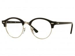 Óculos de Grau Ray-Ban Redondo Acetato Preta Aro Aberto Sem Plaquetas  0rx4246v200049 dde07da22a