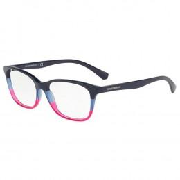Óculos de Grau Emporio Armani Gatinho Acetato Azul Aro Fechado Sem Plaquetas  0ea3126 5633 52 e95977c61c