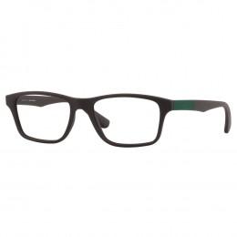 5ccda165ebd32 Óculos de Grau Jean Monnier Retangular Acetato Marrom Aro Fechado Sem  Plaquetas 0j83162 e976 55