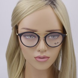 133267cefcd45 Óculos de Grau Ray-Ban Redondo Acetato Preta Aro Fechado com Plaquetas  0rx7097 2000 49