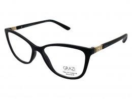 094cc900c Óculos de Grau Grazi Massafera Gatinho Acetato Preta Aro Fechado Sem  Plaquetas 0gz3029b e411 52