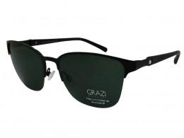 Óculos de Sol Grazi Massafera Quadrado Armação Metal Preta Lente Preta Comum  Com Plaquetas 0gz2002be30157 7d0317975b