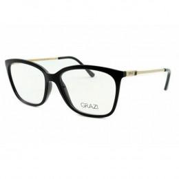 8f56915252b03 Óculos de Grau Grazi Massafera Quadrado Acetato Preta Aro Fechado Sem  Plaquetas 0gz3016 d82953