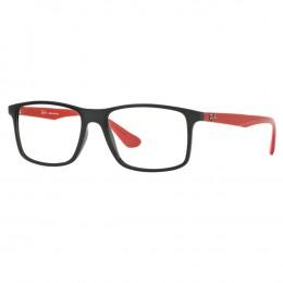 3760a2147 Óculos de Grau Ray-Ban Quadrado Acetato Preta Aro Fechado Sem Plaquetas  0rx7120l 5658 55