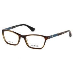 7d003bb3bec63 Óculos de Grau Guess Retangular Acetato Tartaruga Aro Fechado Sem Plaquetas  gu2594 52056