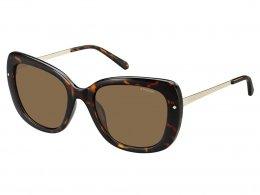 9e2a77eb9ff3d Óculos de Sol Polaroid Tartaruga e Dourado Lente Marrom Feminino
