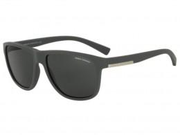 457b3ccceb858 Óculos de Sol Armani Exchange Quadrado Armação Plástico Cinza Lente Preta  Comum Sem Plaquetas 0ax4052sl 81808758