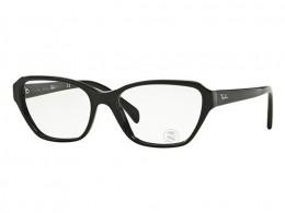 f7f8742fa9b44 Óculos de Grau Ray-Ban Gatinho Acetato Preta Aro Fechado Sem Plaquetas  rx5341200055