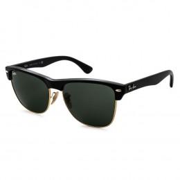 7c2ad05d204c6 Óculos de Sol Ray-Ban Clubmaster Armação Acetato Preto Lente Verde Comum  Com Plaquetas 0rb4175