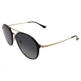 c3713805e5c4e Óculos de Sol Ray-Ban Redondo Amação Acetato Preto Lente Preta Degradê Com  Plaquetas 0rb4292n