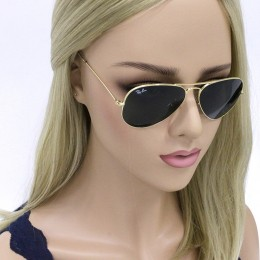9de7d624f9c26 Óculos de Sol Ray-Ban Aviador Armação Metal Dourado Lente Verde Comum Com  Plaquetas 0rb3025l