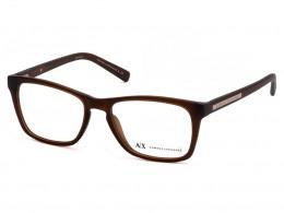 79f4700b7384d Óculos de Grau Armani Exchange Quadrado Acetato Marrom Aro Fechado Sem  Plaquetas 0ax3012l808354