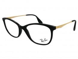 f36a0d065ffe8 Óculos de Grau Ray-Ban Gatinho Acetato Preta Aro Fechado Sem Plaquetas  0rx7105l520055
