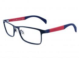 a20dd1f841bfc Óculos de Grau Tommy Hilfiger Retangular Metal Aro Fechado Com Plaquetas  th1259 4np5317r
